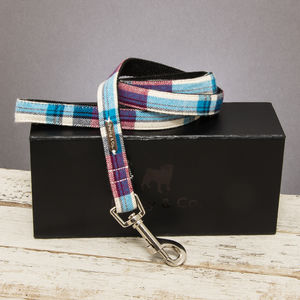 The Marple Red Checked Dog Lead - pets