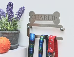 Personalised Dog Lead Hanger - dogs