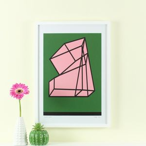 'Second Spell' Screen Print Mid Century Modern Art - posters & prints
