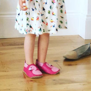 Embroidered Flamingo Children's Slippers - clothing