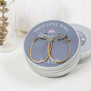 Oval Hoop Earrings - new in jewellery