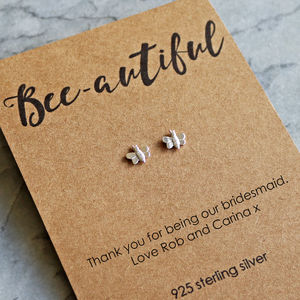 Bee Autiful Sterling Silver Earrings