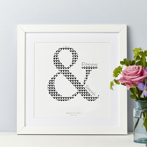 Couple Ampersand Gift Print Personalised
