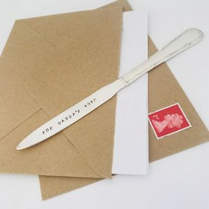 Personalised Silverplated Vintage Letter Opener - desk accessories