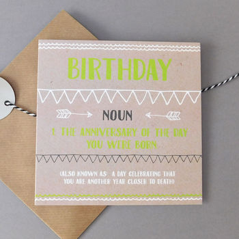 Funny Closer To Death Birthday Card