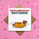 Glitter I Love You Dachshund Happy Anniversary Card