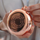 Personalised Rose Gold Round Hip Flask