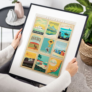 Australia Wonders Travel Print