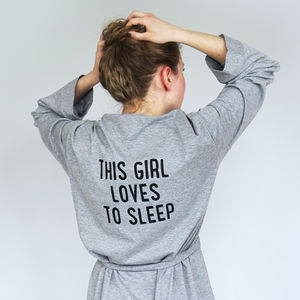 I Love Sleep Dressing Gown - women's fashion