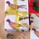 Pheasant Christmas Wrapping Paper Set