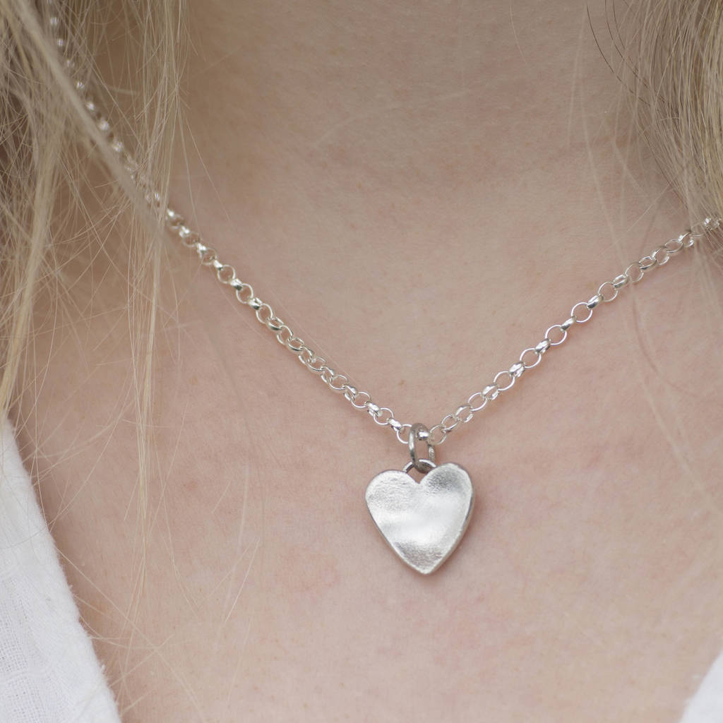 Silver Handmade Heart Necklace By Alison Moore Designs