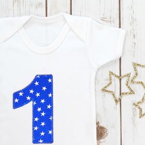 Baby Boy First Birthday Baby Grow