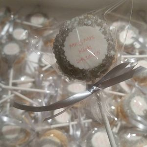 100 X Personalised French Macaron Cake Pops - cakes & treats