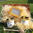 British Honey Trio Gift Set With Honeycomb