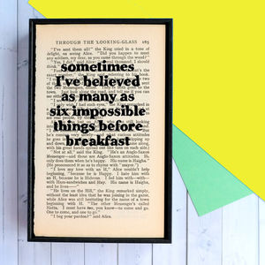 Alice In Wonderland Framed Book Print - sale by category