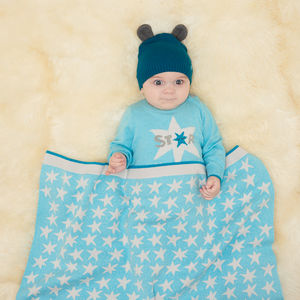 Constellation Knitted Baby Blanket - soft furnishings & accessories