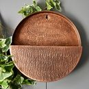 Full Circle Copper Wall Planter