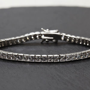 Channel Set Crystal Tennis Bracelet