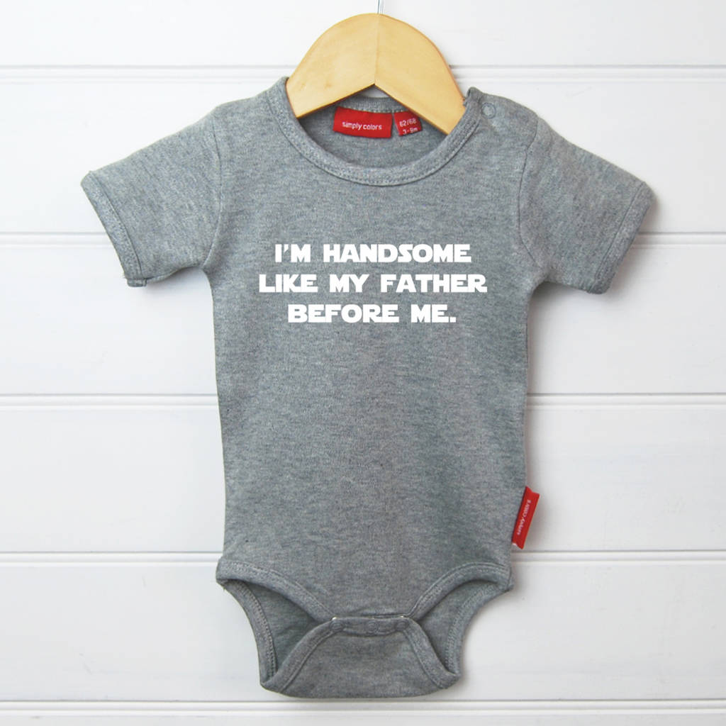 9085ab985 personalised 'handsome' like my father t shirt/babygrow by simply ...