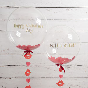 Personalised Hearts And Kisses Confetti Balloon - decorative accessories