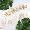 Personalised Bold Glitter Print Sash Custom Wording