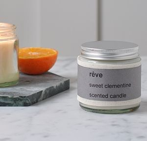 Personalised Rěve Sweet Clementine Scented Candle - home accessories