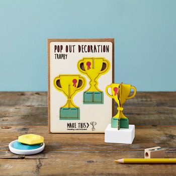 Pop Out Trophy Greeting Card