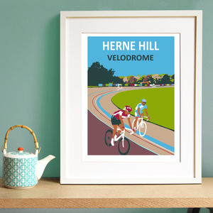 Herne Hill Velodrome Giclee Print - activities & sports