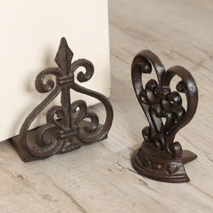 Contemporary Iron Door Stops - door stops