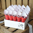 Christmas Wedding Confetti Cones