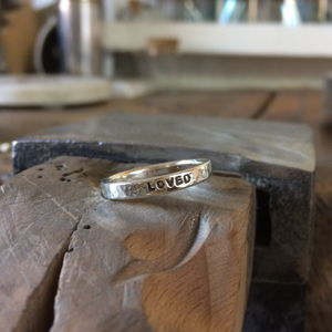 Personalised Silver Message Ring - rings