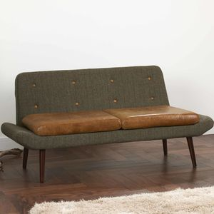 Vintage Leather Or Harris Tweed Sofa One Or Two Seater - sofas