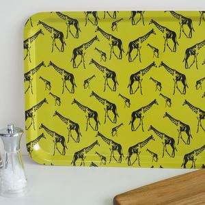 Giraffe Parade Large Serving Tray - trays