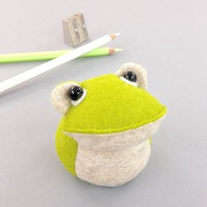 Handmade Croaker The Frog Paperweight - decorative accessories