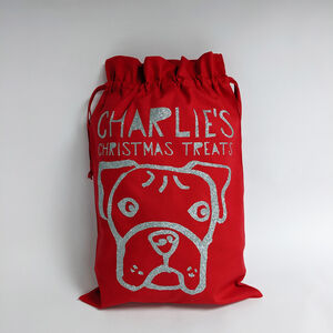 Personalised Dog Christmas Gift Sack