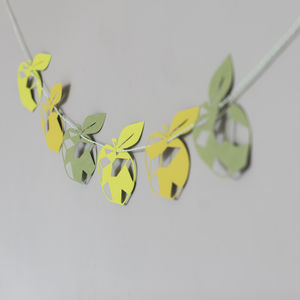 Geometric Apple Paper Garland