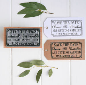 Save The Date Wedding Stamp With Border - wedding craft ideas