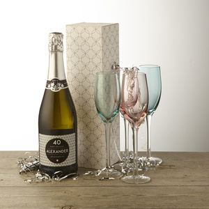 40th Birthday Personalised Prosecco - champagne & prosecco