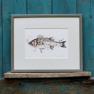 Fish Limited Edition Print Sea Bass - limited edition art