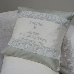 Silver Wedding Cushion