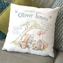 Personalised Animal Christening Cushion