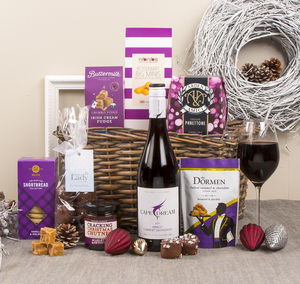 The Festive Winter Basket Christmas Hamper - chocolates & confectionery