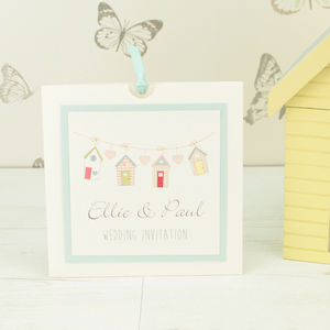 Beach Hut Wedding Invitation