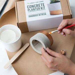 Concrete Planter Making Kit - stocking fillers