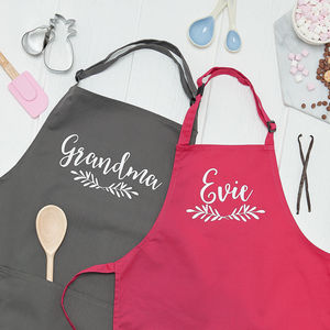 Grandma And Grandchild Cooking Apron Set - aprons