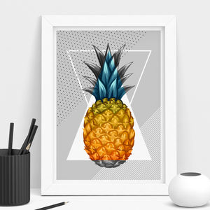 Tropical 90's Pineapple Print