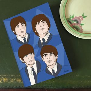 'Fab Four' A5 Lined Notebook - writing