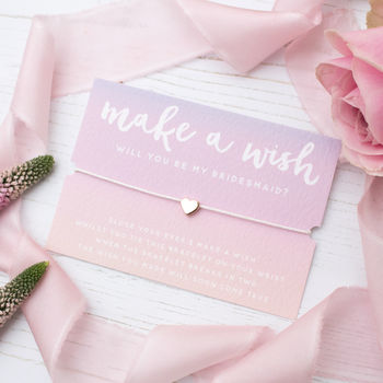 Make A Wish Rose Gold Bridesmaid Bracelet