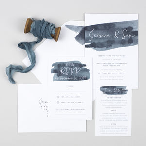 Waters Edge Wedding Invitation