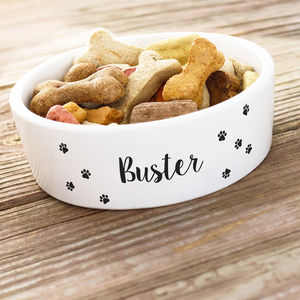 Personalised Ceramic Dog Bowl - bowls & mats